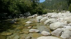The solenzara river in corsica Stock Footage