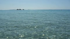crystal clear water of the mediterranean sea - stock footage