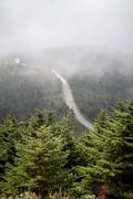 Appalachian mountains from mount mitchell, the highest point in the eastern u Stock Photos