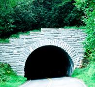 Stock Photo of blue ridge parkway tunnel