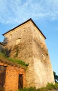 Stock Photo of summer evening svirzh castle tower view (ukraine).
