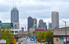 indianapolis. image of downtown indianapolis, indiana in spring - stock photo
