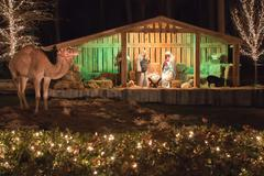 live nativity - stock photo