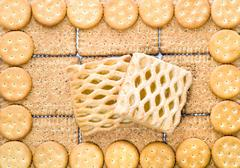 biscuits (background) - stock photo