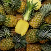 Pineapples (macro zoom) Stock Photos