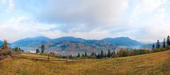 Stock Photo of autumn mountain village