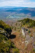 Autumn view of grandfather mountain from beacon heights trail, blue ridge par Stock Photos