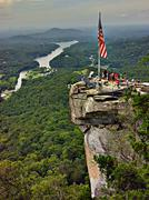 chimney rock overlook - stock photo