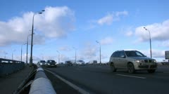 Traffic on third transport ring, time lapse Stock Footage