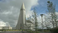 Stock Video Footage of Iceland Reykjavik cathedral s2