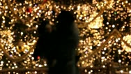 Shadows of mother and baby near the Christmas tree Stock Footage