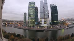 Moscow City seen from across the river. Stock Footage