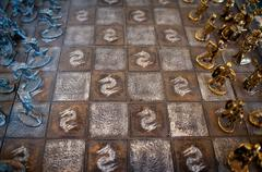 medieval chess board - stock photo