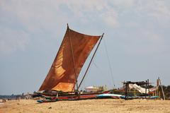 boat on sri lanka - stock photo