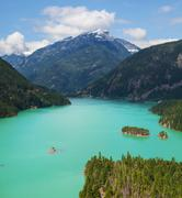 diablo lake - stock photo