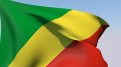 Flag of the Republic of the Congo HD Stock Footage