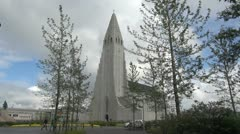 Iceland Reykjavik cathedral s4 Stock Footage