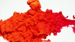 Red ink in water, Slow Motion - stock footage