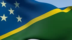 Flag of the Solomon Islands HD Stock Footage