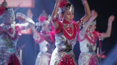 Traditional Javanese dance performance Stock Footage