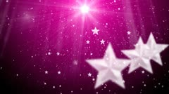Star and snowflake and flashes background 8 Stock Footage