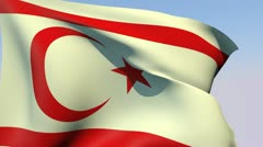 Flag of the Turkish Republic of Northern Cyprus HD Stock Footage