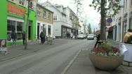 Iceland Reykjavik street s1 Stock Footage