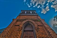 brick chapel - stock photo