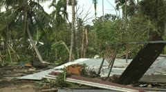 Hurricane Storm Surge Damage To Buildings Stock Footage