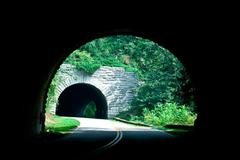 Blue ridge parkway tunnel Stock Photos