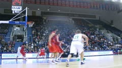 Gomelsky cup match CSKA Moscow - Zalgiris Kaunas Stock Footage