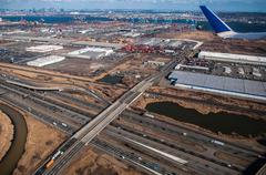 Aerial over newark Stock Photos
