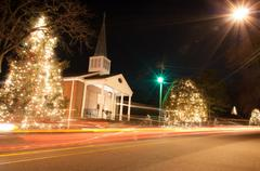 Christmas town usa Stock Photos