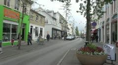 Iceland Reykjavik street  Stock Footage