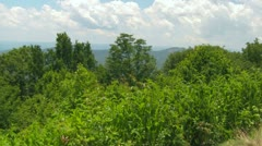 View Over the Blue Ridge Mountains with Looking Glass Rock in Distance Stock Footage