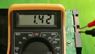 Stock Video Footage of Electronics, Multimeter