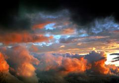 after tornado skyscape - stock photo