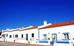 traditional houses of alentejo - stock photo