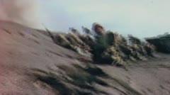 World War II Color Footage - US infantery storming iwo jima beaches Stock Footage