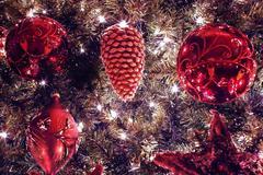 Stock Photo of christmas tree ornaments