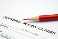 personal injury claim - stock photo