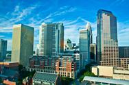 Skyline of uptown charlotte, north carolina. Stock Photos