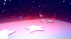 New year Star Floor 3 - stock footage