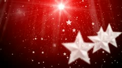 Star and snowflake and flashes background 2 Stock Footage
