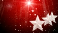 Stock Video Footage of Star and snowflake and flashes background 2