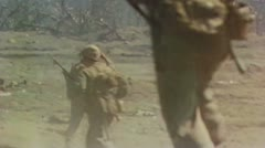 World War II Color Footage - US forces on iwo jima Stock Footage