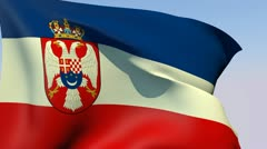 Flag of Yugoslavia Kingdom HD - stock footage