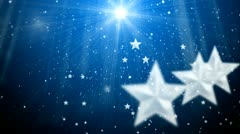 Star and snowflake and flashes background 3 Stock Footage