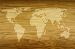 Stock Illustration of world of wood