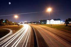 Illalla liikenne valtatie Kuvituskuvat